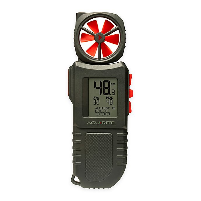 Alternate image 1 for AcuRite® Portable Anemometer with Flashlight