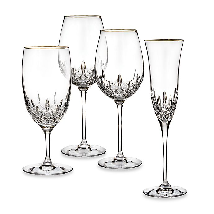 Alternate image 1 for Waterford® Lismore Essence Gold Wine Glass Collection