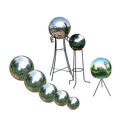 Rome Industries® Stainless Steel Gazing Globes and Pedestal Bases