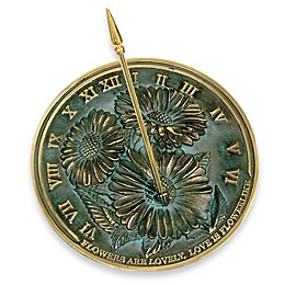 Rome Industries®  Flowers Sundial in Brass