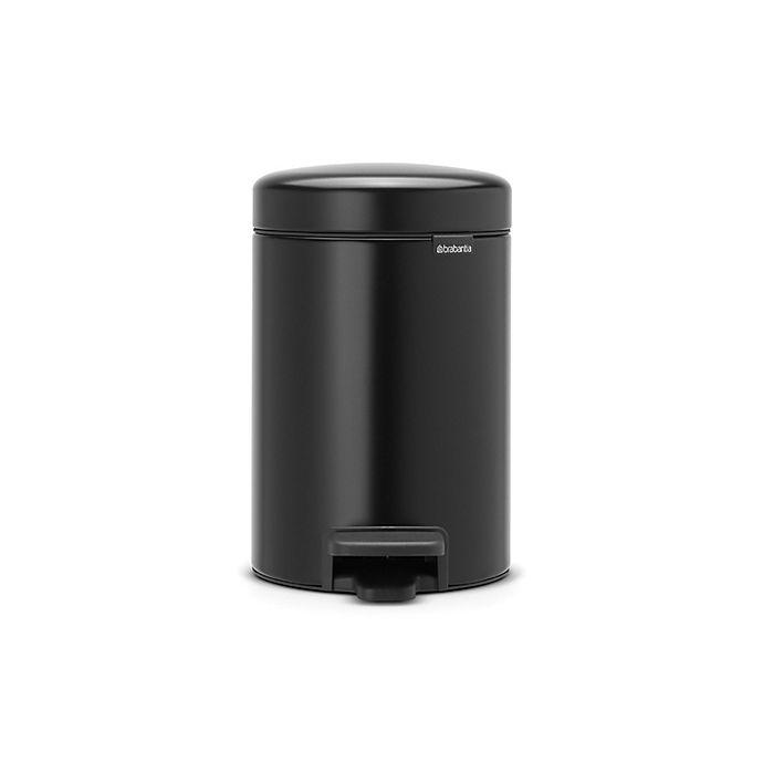 Alternate image 1 for Brabantia® Pedal Bin Trash Can in Black