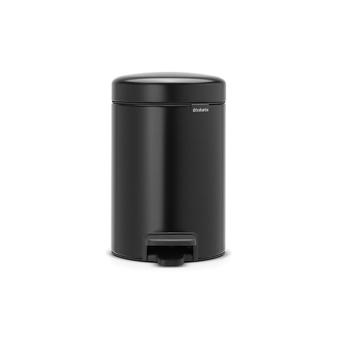 Alternate image 1 for Brabantia® 5-Liter Pedal Bin Trash Can in Black