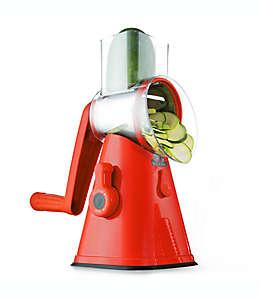 Cortador y rebanador de frutas y verduras NutriSlicer™ 3-in-1 en rojo
