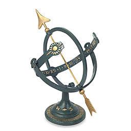 Rome Industries® Armillary Sundial with Brass Arrow in Cast Iron
