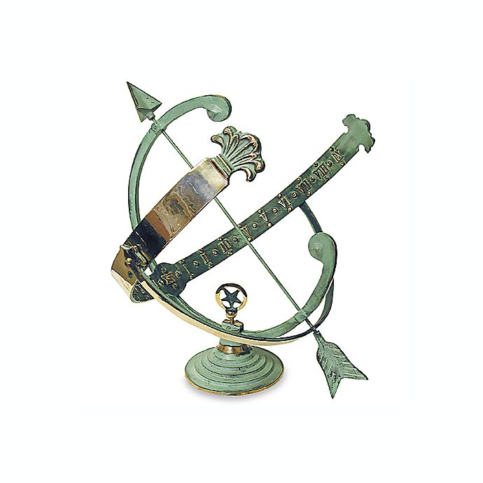 Alternate image 1 for Rome Industries® Armillary Sundial with Verdigris Highlights in Solid Brass