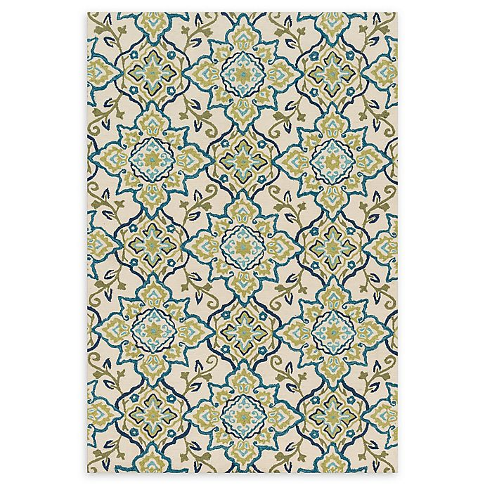 Alternate image 1 for Loloi Rugs Francesca Floral 2'3 x 3'9 Handcrafted Accent Rug in Ivory/Ocean