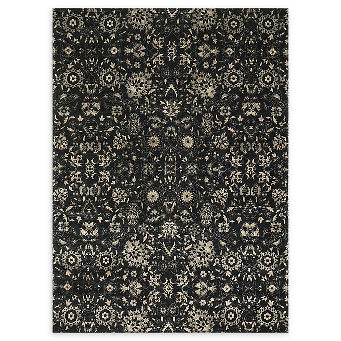 Alternate image 1 for Loloi Rugs Journey Center Medallion Area Rug in Black/Silver