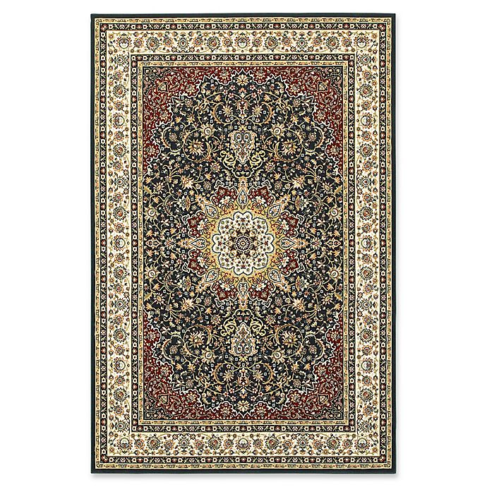 Alternate image 1 for Oriental Weavers Kashan Woven 6'7 x 9'6 Area Rug in Navy