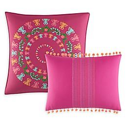 Azalea Skye® Myra Embroidered Throw Pillows in Dark Pink (Set of 2)