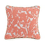 Jessica Simpson Marteen Embroidered Square Throw Pillow in Pink