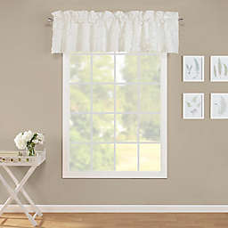 Laura Ashley® Adelina Ruffle White Window Valance
