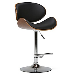 Simpli Home™ Faux Leather Upholstered Gas Lift Bar Stool