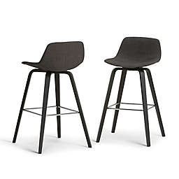 Simpli Home™ Upholstered Stools (Set of 2)