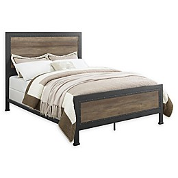 Forest Gate Holter Industrial Modern Queen Wood Metal Bed