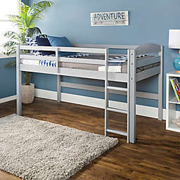 Forest Gate Low Loft Solid Wood Twin Bed