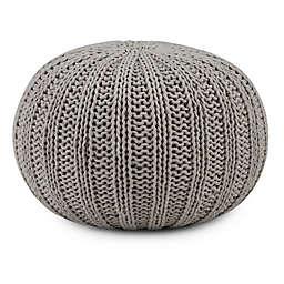 Simpli Home™ Shelby Cotton Round Pouf