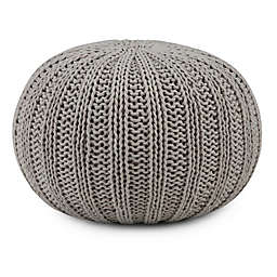 Simpli Home™ Shelby Cotton Round Pouf