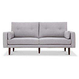Capsule Home Brentwood USB-Compatible Linen Sofa