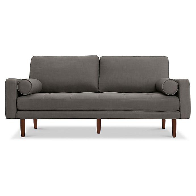 Alternate image 1 for Capsule Home Brooklyn USB-Compatible Linen Sofa in Dark Grey