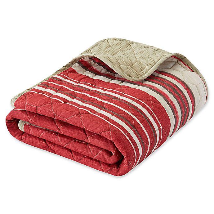 Alternate image 1 for Eddie Bauer® Yakima Valley Stripe Throw Blanket in Red