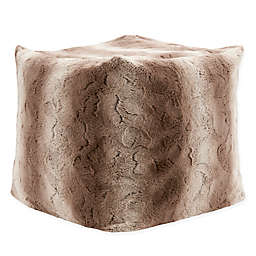Madison Park Zuri Ombre Faux Fur Pouf