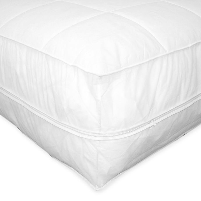 Alternate image 1 for Everfresh All-In-One Mattress Pad and Protector in White
