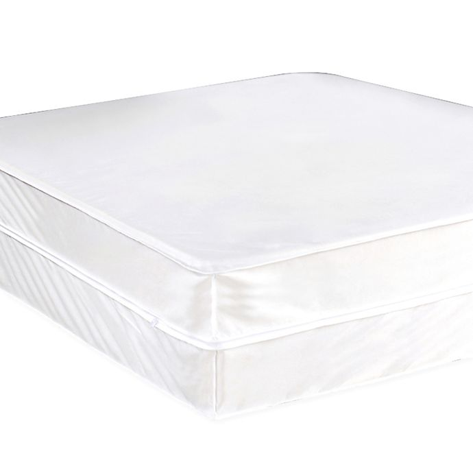 Alternate image 1 for Everfresh Antibacterial Water Resistant California King Box Spring Protector in White
