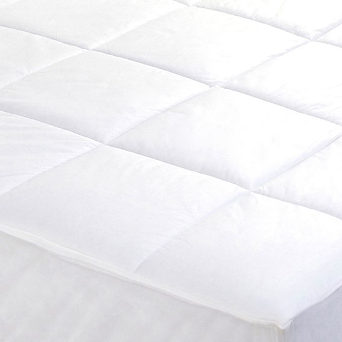 Everfresh Antibacterial Water Resistant Mattress Pad In White Bed