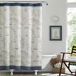 Tommy Bahama® Caribbean Sea Shower Curtain in Blue