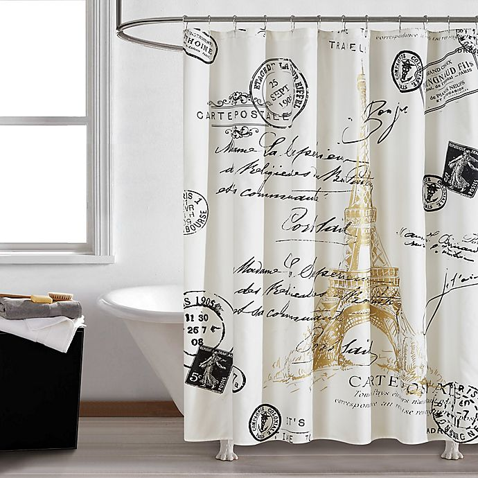 Paris Gold Shower Curtain Bed Bath Amp Beyond