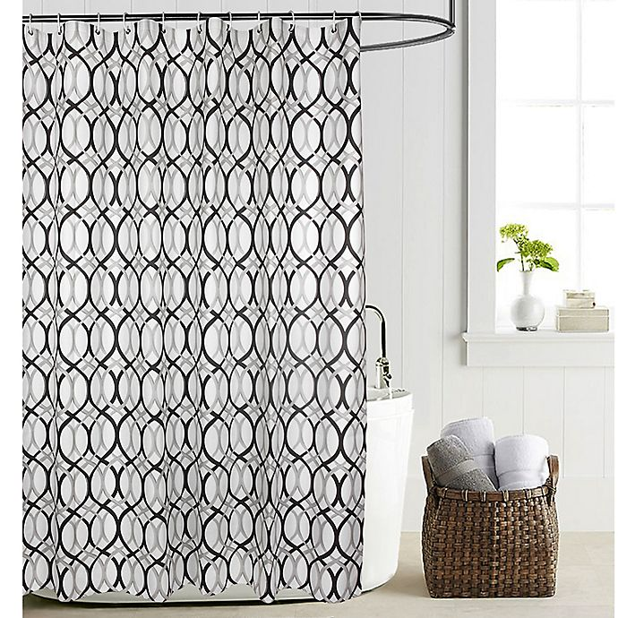 Madison PEVA 70 Inch X 72 Shower Curtain Liner In Grey