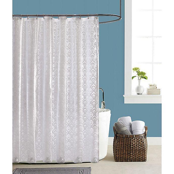 Le Papillon Peacock PEVA Shower Curtain