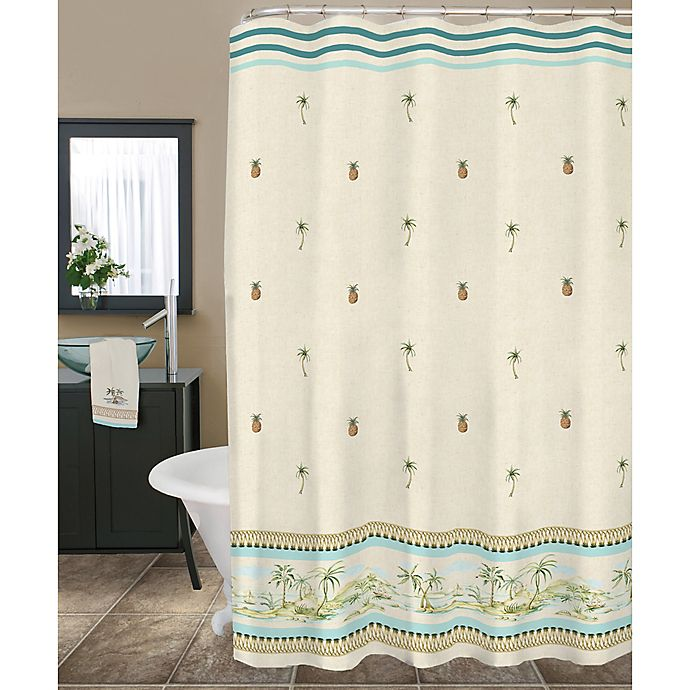 Lenox British Colonial 72 Inch Fabric Shower Curtain