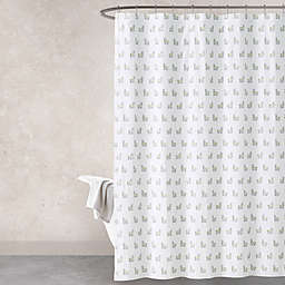 Haus & Haven Llama Shower Curtain in Green