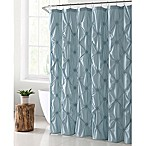 VCNY Home Floral Burst Shower Curtain in Aqua