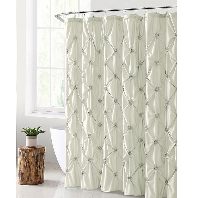 Alternate image 1 for VCNY Home Floral Burst Shower Curtain in White
