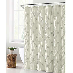 VCNY Home Floral Burst Shower Curtain in White