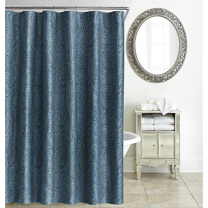 Alternate image 1 for Waterford® Esmerelda Shower Curtain in Indigo