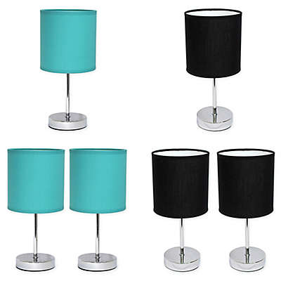 Simple Designs Mini Basic Table Lamp Collection