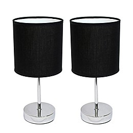 Simple Designs Mini Basic Table Lamps (Set of 2)
