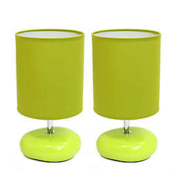 Simple Designs Stonies Table Lamps in Green (Set of 2)