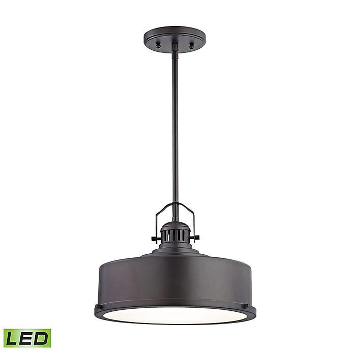 Alternate image 1 for Elk Lighting Rexford Single-Light Pendant Light in Metallic Bronze