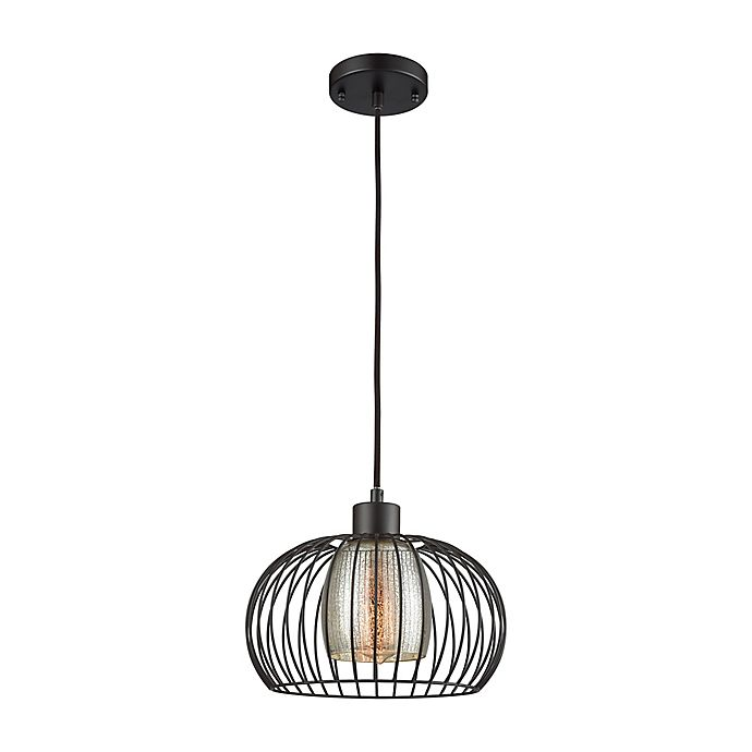 Elk Lighting Yardley: Elk Lighting Yardley 9-Inch Ceiling-Mount Pendant In Oiled