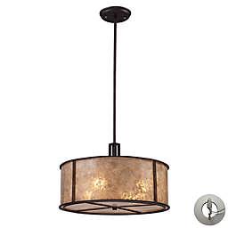 ELK Lighting Barringer 4-Light Pendant in Aged Bronze