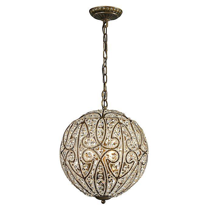 Alternate image 1 for ELK Lighting Elizabethan Pendant in Dark Bronze