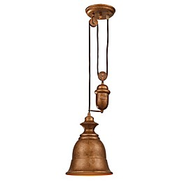 ELK Lighting Farmhouse Bellwether 1-Light Adjustable Pendant