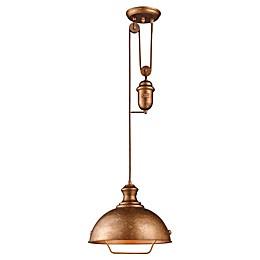 ELK Lighting Farmhouse Bellwether 1-Light Adjustable Pendant
