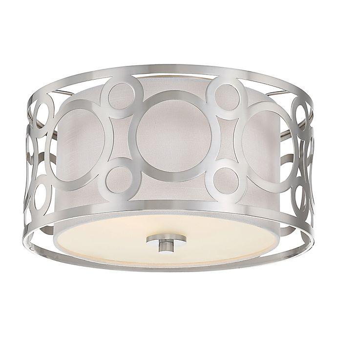 Alternate image 1 for Filament Design Ornate 2-Light Flush Mount Ceiling Light in Brushed Nickel
