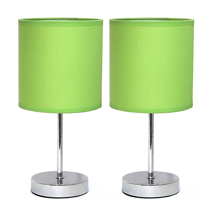 Alternate image 1 for Mini Table Lamps in Chrome (Set of 2)