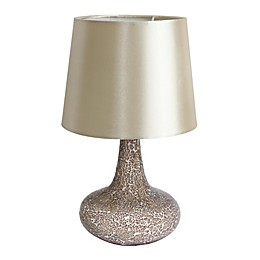 All the Rages Simple Designs Mosaic Tiled Genie Lamp with Fabric Shade